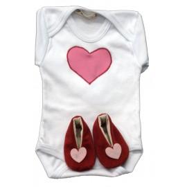 conjunto bebé, corazón