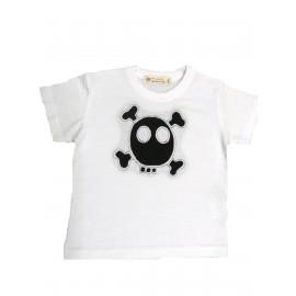 camiseta calavera en blanco