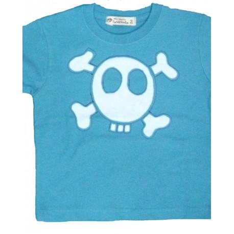 camiseta calavera azul