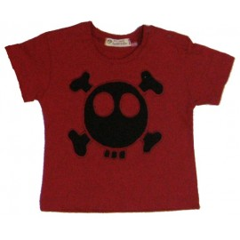 camiseta calavera roja