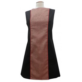 Vestido negro-franjas rojo