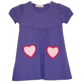 vestido morado corazón
