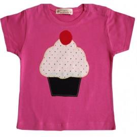 camiseta rosa pastelito