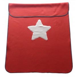 mantita roja estrella, forro polar