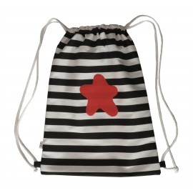 mochila estrella roja