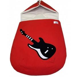 saco capazo guitarra, rojo