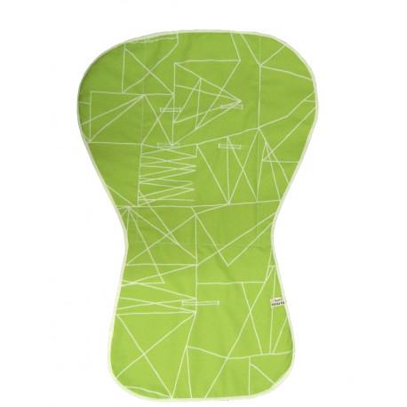 Colchoneta silla verde puzle.