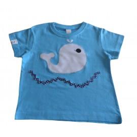 camiseta azul ballena