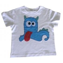 camiseta monstruo azul lengua