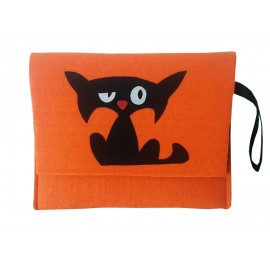 Funda Tablet Gato Negro