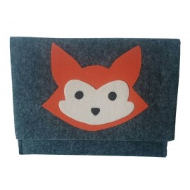 Funda tablet gris zorrito