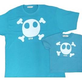 Pack Camisetas Calavera Azul