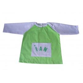 Babi guardería verde personalizado