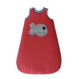 Saco de Dormir Bebé Rojo Pez