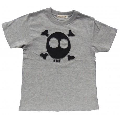 camiseta calavera gris