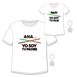 Pack Camisetas Yo Soy Tu Padre, hija