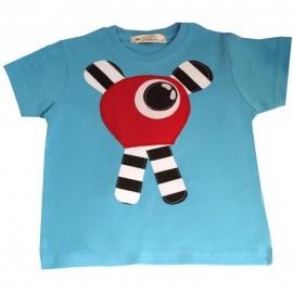 camiseta monstruo en azul