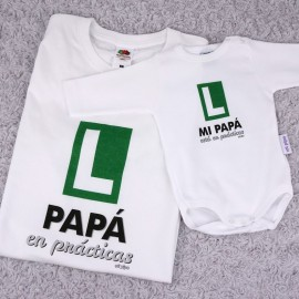 Pack Camiseta + Body Papá en Prácticas