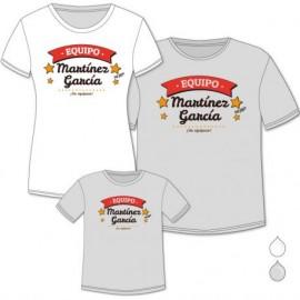 Pack 3 Camisetas Equipo Familia.