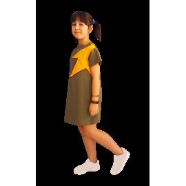 Vestido Niña Rock Kaki.