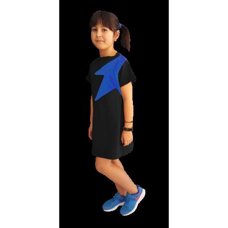 85bf45d81b Vestido negro manga corta niña
