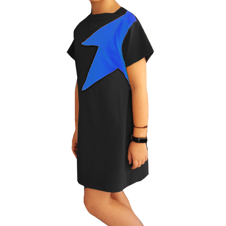 Vestido Mujer Rock Negro