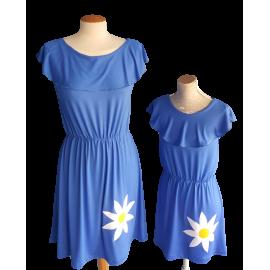 Vestido Mamá e Hija Azul Margarita