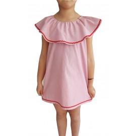 Vestido Niña Volante Picu