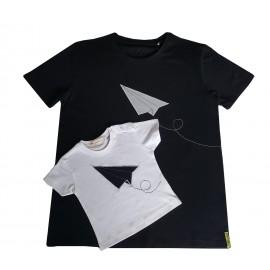 Camisetas Blanco y Negro Avión