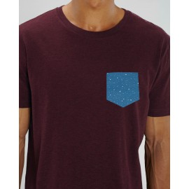 Camiseta Chico Berenjena Bolsillo