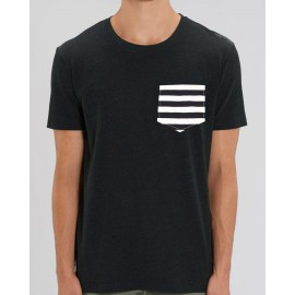 Camiseta Chico Gris Bolsillo