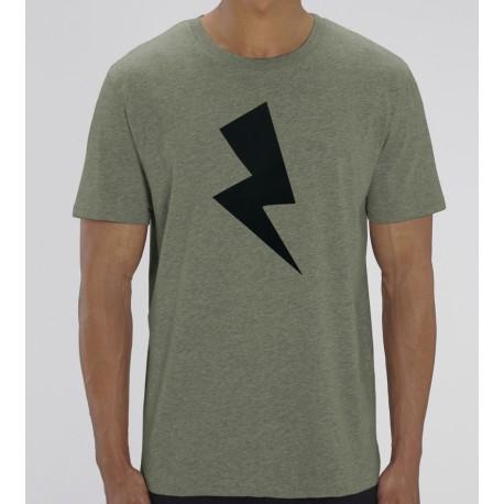 Camiseta Hombre Kaki Rayo